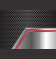 abstract red arrow light metal plate circle mesh vector image vector image
