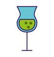 alcohol cup cartoon vector image
