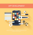 App development instruments concept vector image