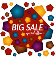 big sale special offer square banner vector image vector image