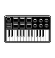 black and white of synthesizer vector image