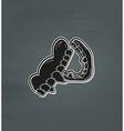 black vampire denture vector image vector image