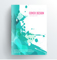 book cover design template with abstract splash vector image vector image