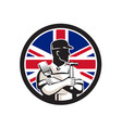 british diy expert union jack flag icon vector image vector image
