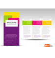 Brochure Tri-fold Layout Design Template vector image vector image