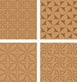 Brown seamless pattern background set vector image vector image