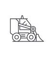bulldozer line icon concept bulldozer vector image vector image
