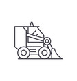 bulldozer line icon concept vector image vector image
