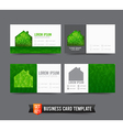 Business Card template set 021 Green house ecology vector image vector image