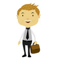 businessman holding a bag vector image vector image