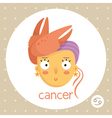 Cancer zodiac sign girl with claws vector image vector image