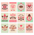 candy shop cards sweet food desserts vector image vector image