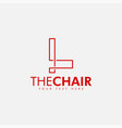 chair logo design template isolated vector image