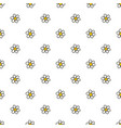 chamomile flowers hand drawn seamless pattern vector image