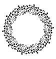 circular floral ornament frame for vector image vector image