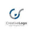 circular initial letter g and s business logo flat vector image vector image