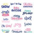 collection with phrases vector image