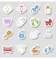 Color Baby Icons as Labes vector image vector image
