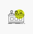 competition contest expert judge jury line icon vector image vector image