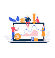 cryptocurrency concept - flat design style vector image