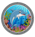 cute dolphin cartoon jumping vector image vector image