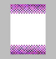 diagonal square pattern page background template vector image vector image