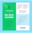 dubai hotel business company poster template with vector image