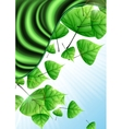 Eco Green Background With Leaves vector image vector image