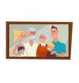 family portrait parents children and vector image vector image