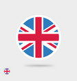 flag icon united kingdom or great vector image