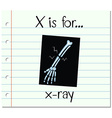 Flashcard letter X is for x-ray vector image vector image