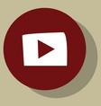 Flat play logo icon buttonyoutube flat social vector image