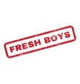 Fresh Boys Text Rubber Stamp vector image vector image