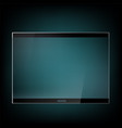 futuristic tablet with glass screen vector image vector image