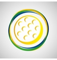 golf ball sport badge icon vector image vector image
