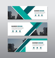 Green triangle abstract corporate business banner vector image vector image