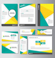 Green yellow brochure flyer leaflet banner set vector image vector image