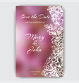 hand drawn invitation for the wedding card vector image vector image