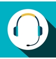 headset communication isolated icon vector image