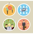 human resources icons vector image vector image