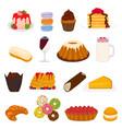 icon logo for big set sweet desserts vector image vector image