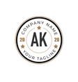 initial letter ak elegance logo design template