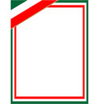 italian flag symbol frame vector image