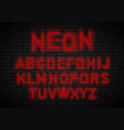 light neon font vector image vector image