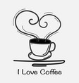 love coffee hand drawn vector image