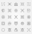 machine learning icons set artificial vector image vector image