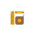 measurement tools icon flat element vector image