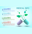 medicine and treatment information poster vector image vector image
