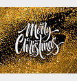 merry christmas greeting card glitter vector image vector image