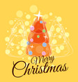 merry christmas greeting card trend design spruce vector image vector image